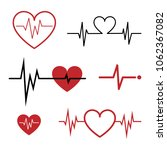 set of cardiogram icons... | Shutterstock .eps vector #1062367082