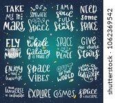 space hand written lettering... | Shutterstock .eps vector #1062369542