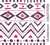 seamless ethnic pattern. cute... | Shutterstock .eps vector #1062375356