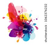 abstract colored flower... | Shutterstock .eps vector #1062376232