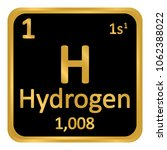 periodic table element hydrogen ... | Shutterstock .eps vector #1062388022