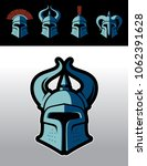 warrior helmet logo set. great...   Shutterstock .eps vector #1062391628