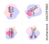 vector set of hairdresser logo  ... | Shutterstock .eps vector #1062395882