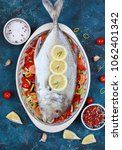 giant trevally fish or caranx... | Shutterstock . vector #1062401342