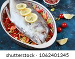 giant trevally fish or caranx... | Shutterstock . vector #1062401345