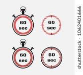 timer 60 seconds on gray... | Shutterstock .eps vector #1062401666