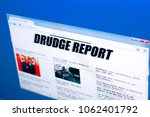 Small photo of Ryazan, Russia - March 28, 2018 - Homepage of Drudge Report website on a display of PC, web adress - drudgereport.com.