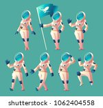 vector set with cartoon... | Shutterstock .eps vector #1062404558