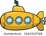 Doodle yellow submarine on a...