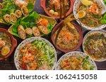 vietnamese dishes top view... | Shutterstock . vector #1062415058