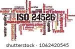 iso 24526  word cloud concept.... | Shutterstock .eps vector #1062420545