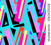 seamless urban funky geometric ... | Shutterstock .eps vector #1062425018