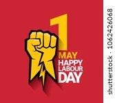 happy labour day vector label... | Shutterstock .eps vector #1062426068
