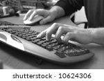 male hand typing on keyboard ... | Shutterstock . vector #10624306