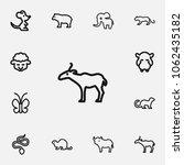 set of 12 editable animal icons ...