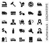 flat vector icon set   scraper... | Shutterstock .eps vector #1062445595