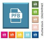 pfb file format white icons on... | Shutterstock .eps vector #1062449465