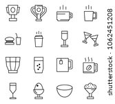 flat vector icon set   cup... | Shutterstock .eps vector #1062451208