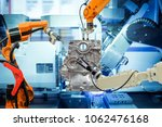 industrial robotic welding ... | Shutterstock . vector #1062476168