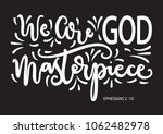 we are god masterpiece. modern... | Shutterstock .eps vector #1062482978