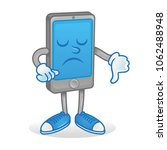 digital icon angry smartphone... | Shutterstock .eps vector #1062488948