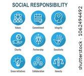 social responsibility outline...   Shutterstock .eps vector #1062494492