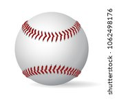 leather baseball game ball with ... | Shutterstock .eps vector #1062498176