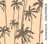 palm trees seamless pattern... | Shutterstock .eps vector #1062498818