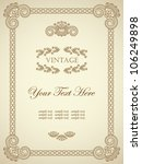 original vintage frame. can be...   Shutterstock .eps vector #106249898