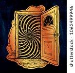 open door into a realm of... | Shutterstock .eps vector #1062499946