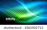 abstract wave on dark... | Shutterstock .eps vector #1062502712