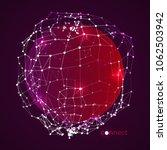 3d connect artwork. abstract...   Shutterstock .eps vector #1062503942