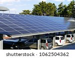 a solar power plant installed... | Shutterstock . vector #1062504362