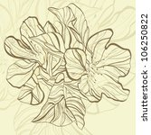 abstract doodle flower with... | Shutterstock .eps vector #106250822