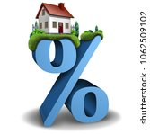 mortgage interest rate home and ... | Shutterstock . vector #1062509102