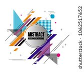 new stylish modern abstract... | Shutterstock .eps vector #1062517652
