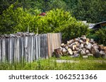 firewood in the village ... | Shutterstock . vector #1062521366