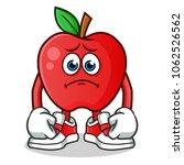 Apple Sad Mascot Vector Cartoo...