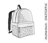 backpack mockup  sketch for... | Shutterstock .eps vector #1062526916