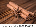 Dried Anise Star And Cinnamon...