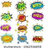 comic speech bubbles and... | Shutterstock .eps vector #1062536858