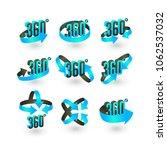 360 degree vector icons set ... | Shutterstock .eps vector #1062537032