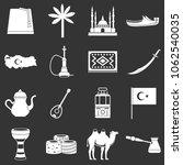 turkey travel icons set vector... | Shutterstock .eps vector #1062540035