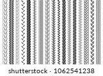 plait and braids pattern brush... | Shutterstock .eps vector #1062541238
