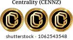 set of physical golden coin... | Shutterstock .eps vector #1062543548