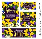 springtime flowers and wish... | Shutterstock .eps vector #1062546902