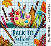 back to school poster of... | Shutterstock .eps vector #1062546962