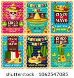 cinco de mayo mexican fiesta...   Shutterstock .eps vector #1062547085