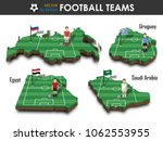 national soccer teams group a . ... | Shutterstock .eps vector #1062553955