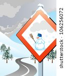 road sign indicating the... | Shutterstock . vector #106256072